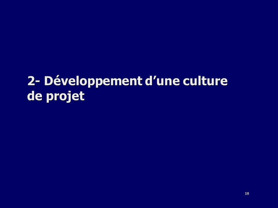 10 2- Développement dune culture de projet
