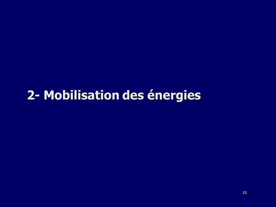 11 2- Mobilisation des énergies