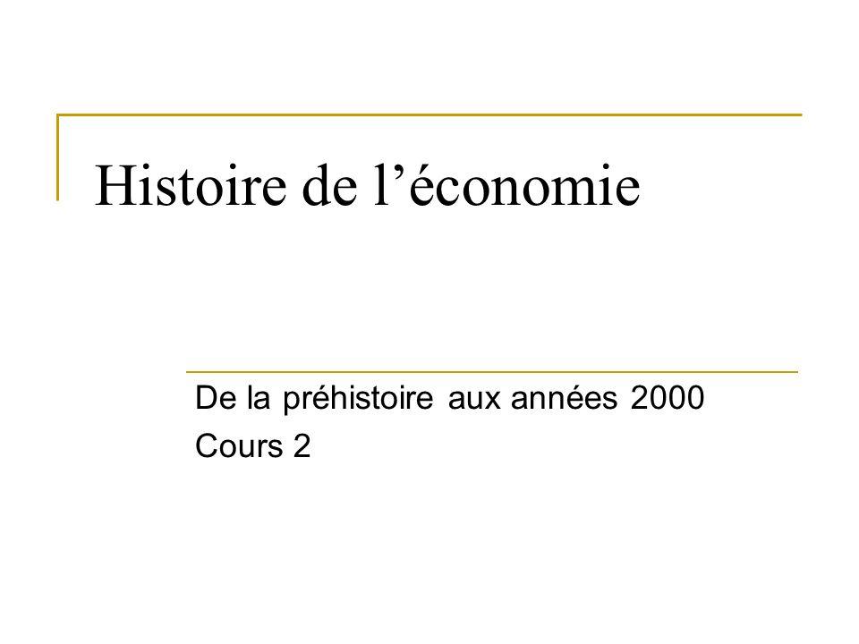 Histoire de léconomie De la préhistoire aux années 2000 Cours 2
