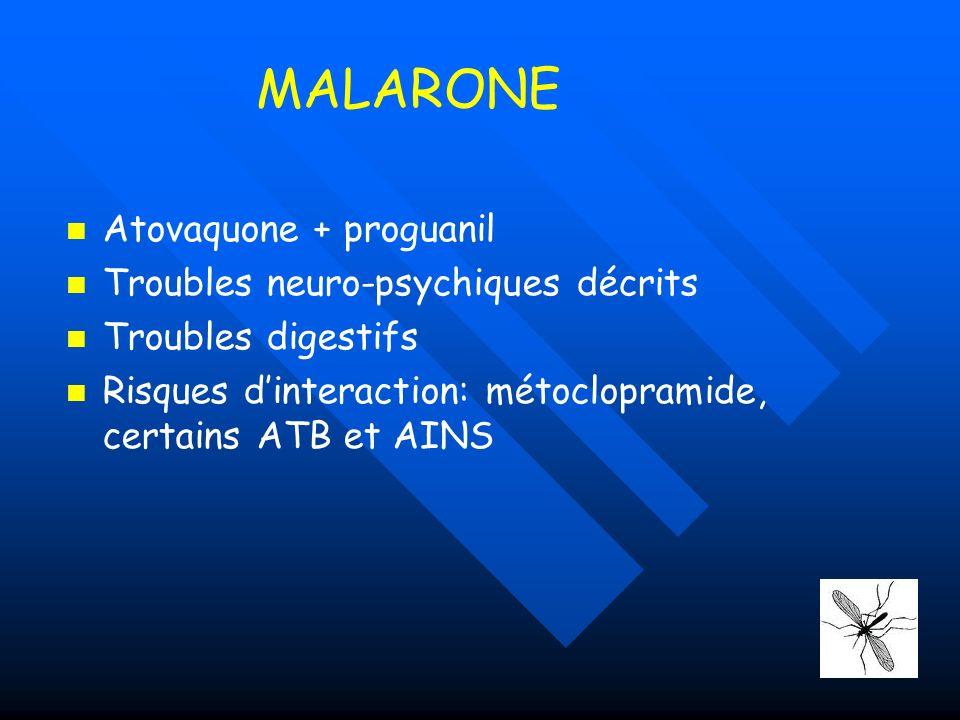 EVALUER Essayer le médicament avant le départ pour vérifier labsence deffets II avant de plonger 1 er effet II du paludisme …