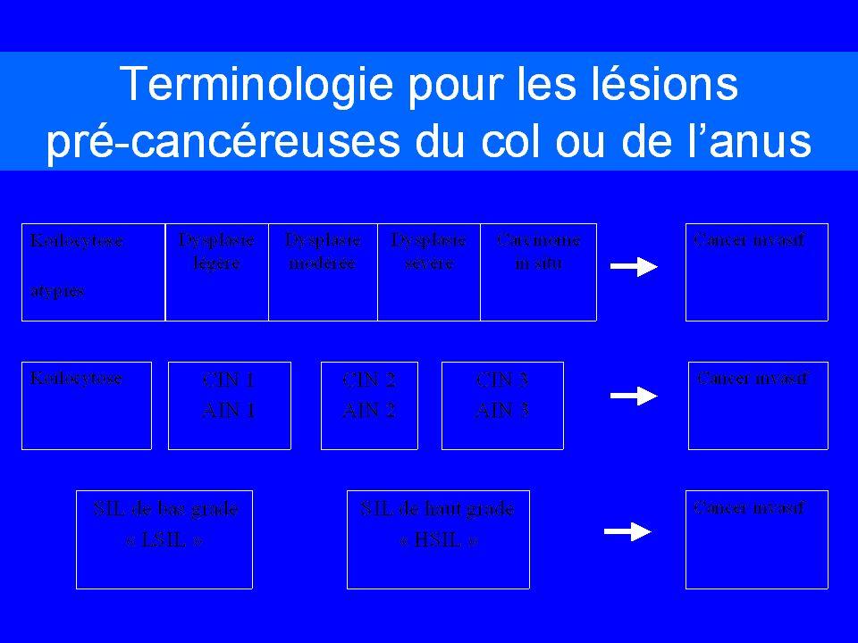 Généralités 2 Classés en bas risque et haut risque en fonction de la fréquence dassociation à tumeurs Bas risque : HPV 6 et 11, 40, 42, 43…. Haut risq