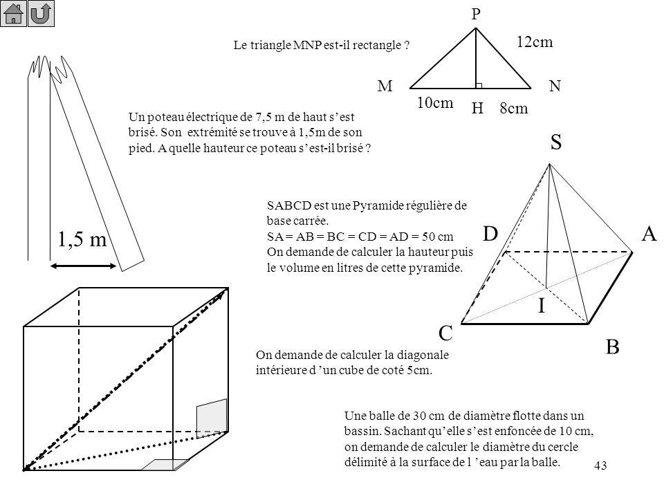 42 5x - 3 = 2 - 4x 5x -3 + 3 + 4x = 2 - 4x + 3 + 4x 9x = 5 5x - 3 = 2 - 4x Réduis l'équation pour obtenir une forme simple du type 5x + 4x = 2 + 3 9x
