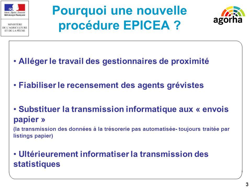 3 Pourquoi une nouvelle procédure EPICEA .