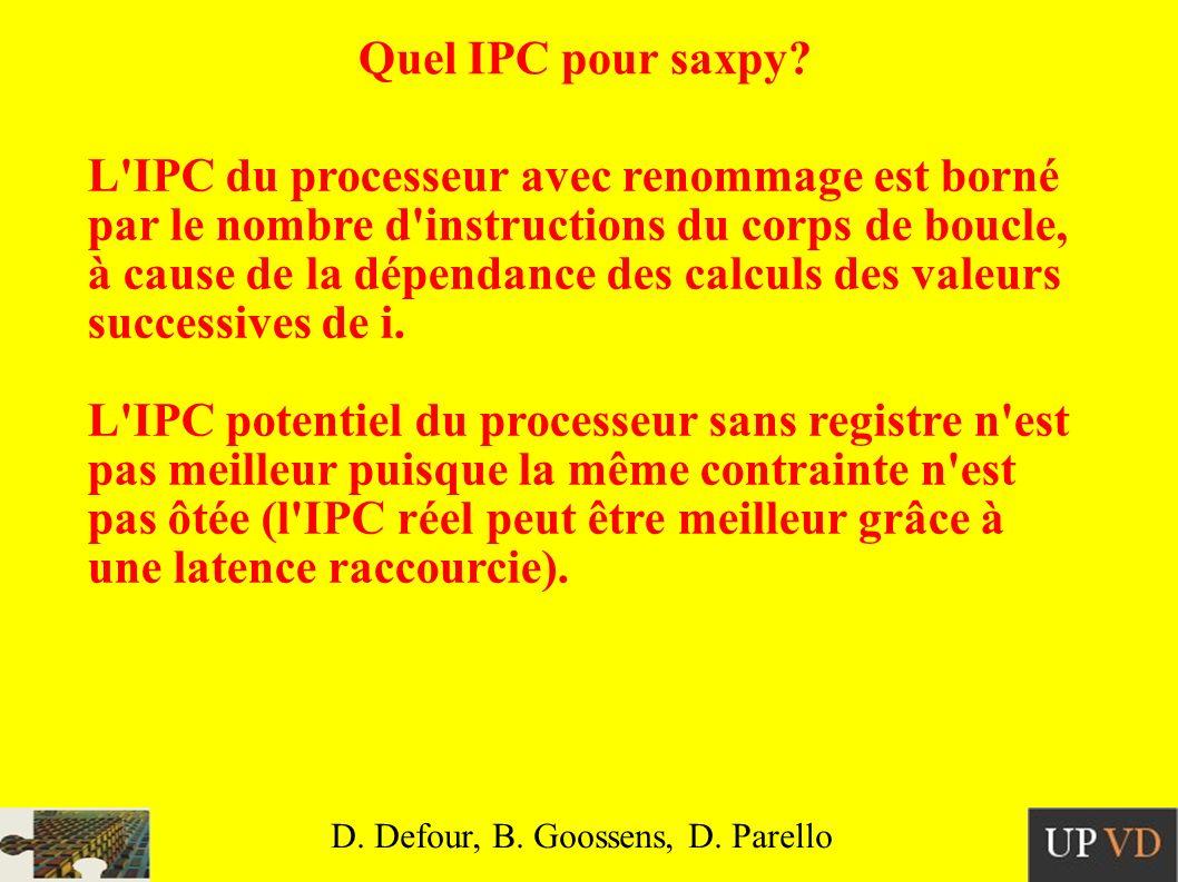 Quel IPC pour saxpy.