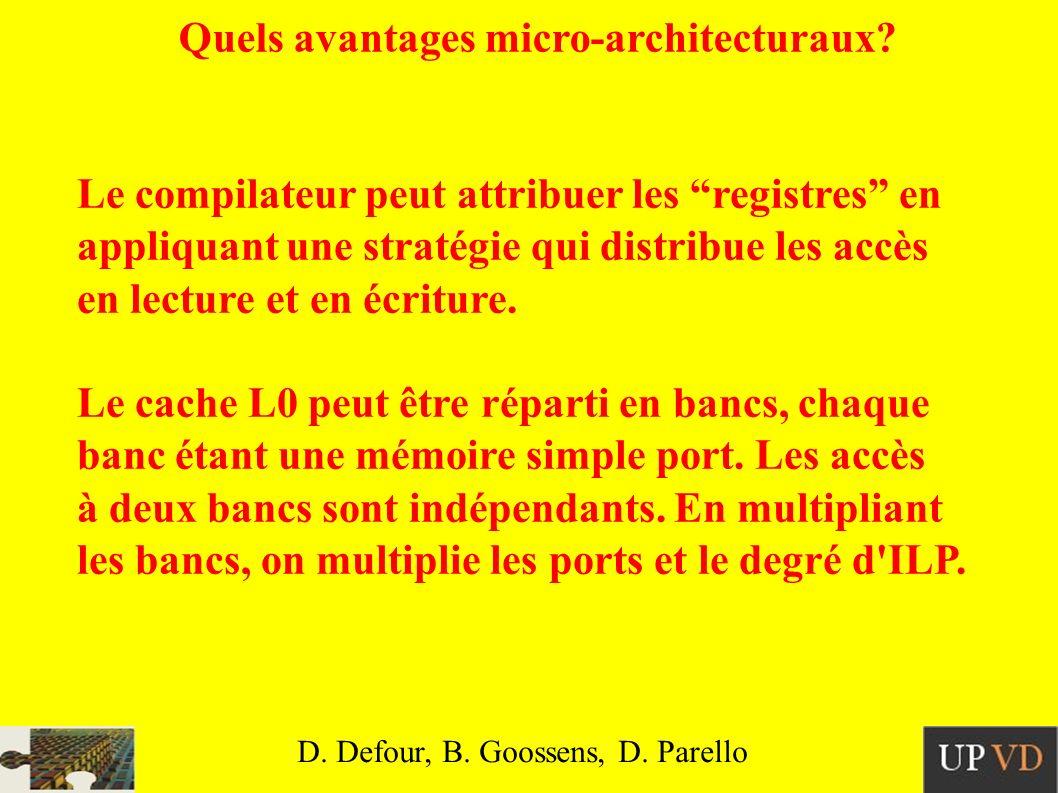 Quels avantages micro-architecturaux.