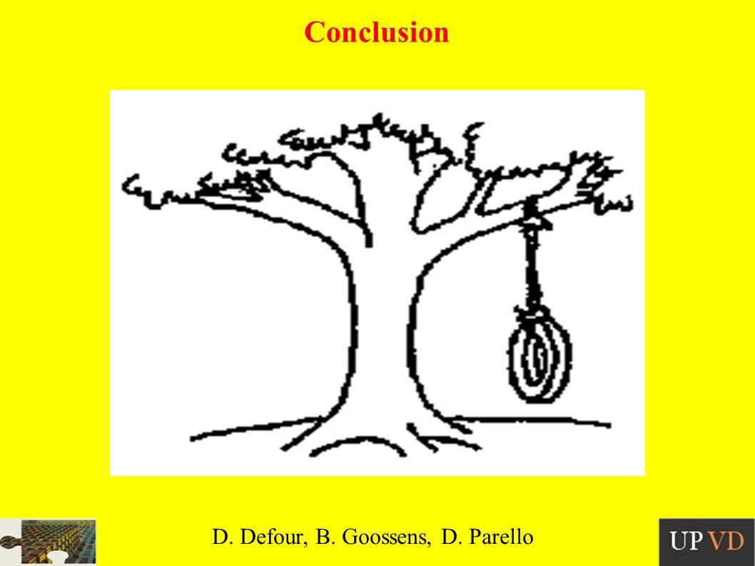 Conclusion D. Defour, B. Goossens, D. Parello
