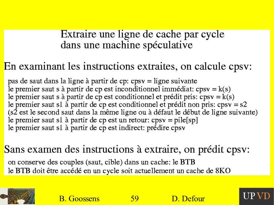 59 B. Goossens D. Defour59 B. Goossens D. Defour