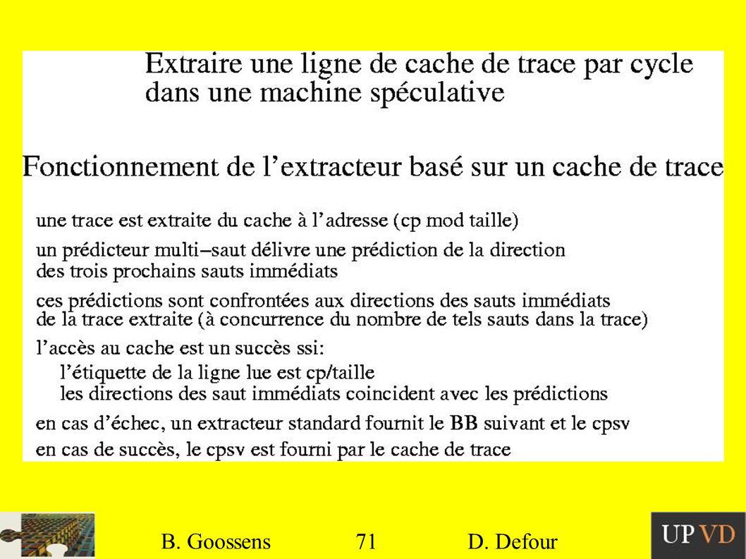 71 B. Goossens D. Defour71 B. Goossens D. Defour