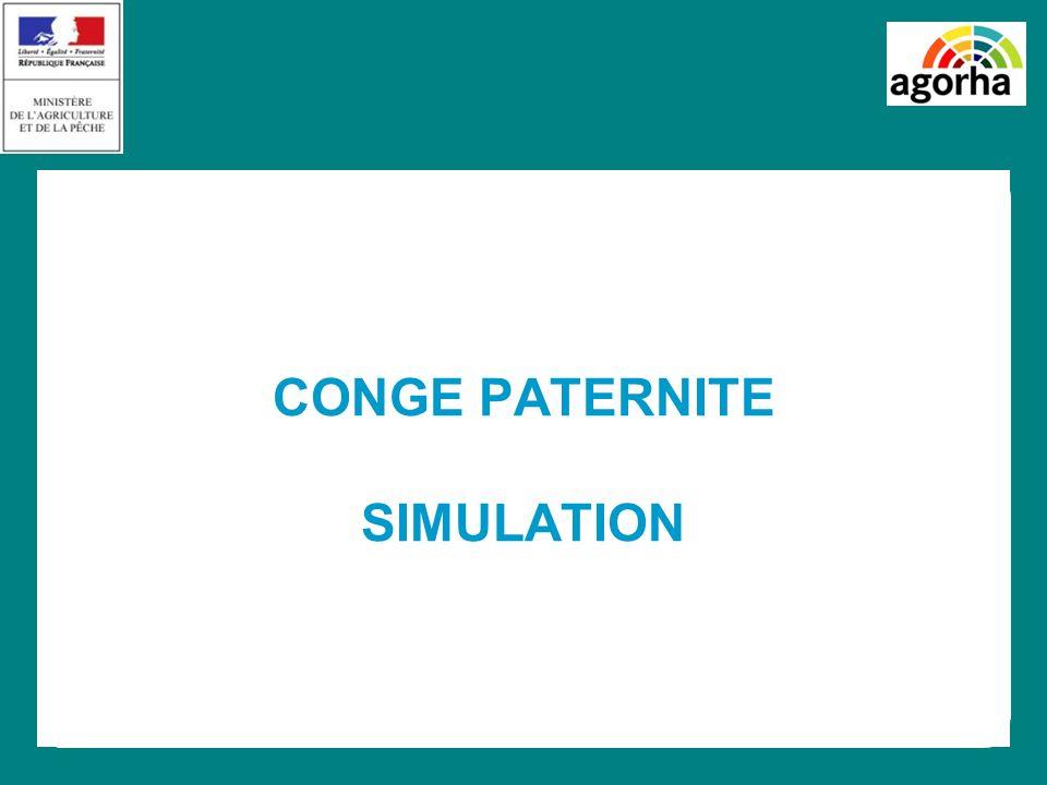 CONGE PATERNITE SIMULATION