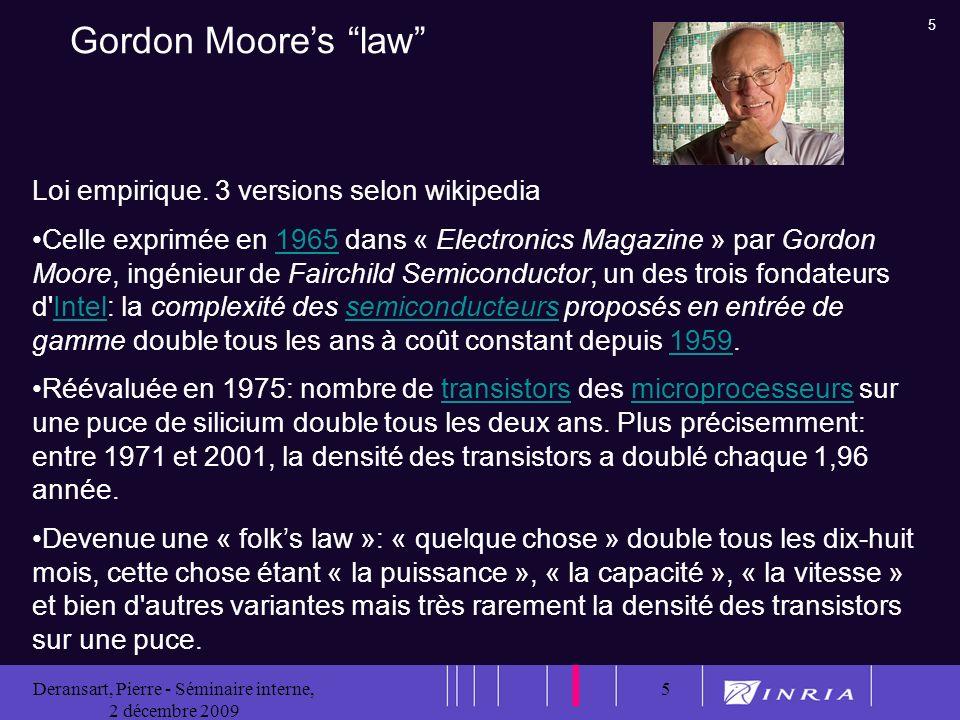 5 Deransart, Pierre - Séminaire interne, 2 décembre 2009 5 Loi empirique.