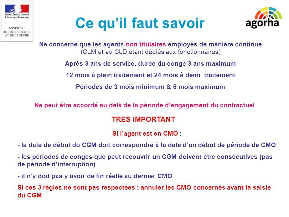 2 Ce quil faut savoir Ne concerne que les agents non titulaires employés de manière continue (CLM et au CLD étant dédiés aux fonctionnaires) Après 3 a
