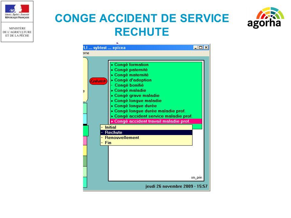 CONGE ACCIDENT DE SERVICE RECHUTE