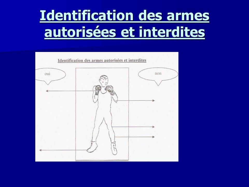 Identification des armes autorisées et interdites
