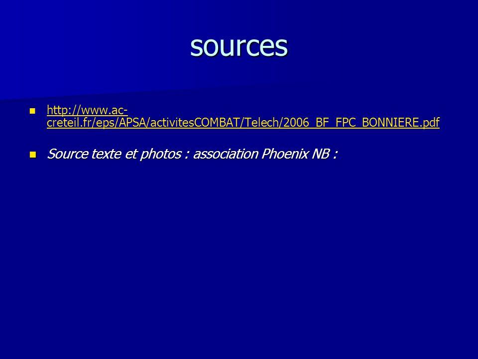 sources http://www.ac- creteil.fr/eps/APSA/activitesCOMBAT/Telech/2006_BF_FPC_BONNIERE.pdf http://www.ac- creteil.fr/eps/APSA/activitesCOMBAT/Telech/2