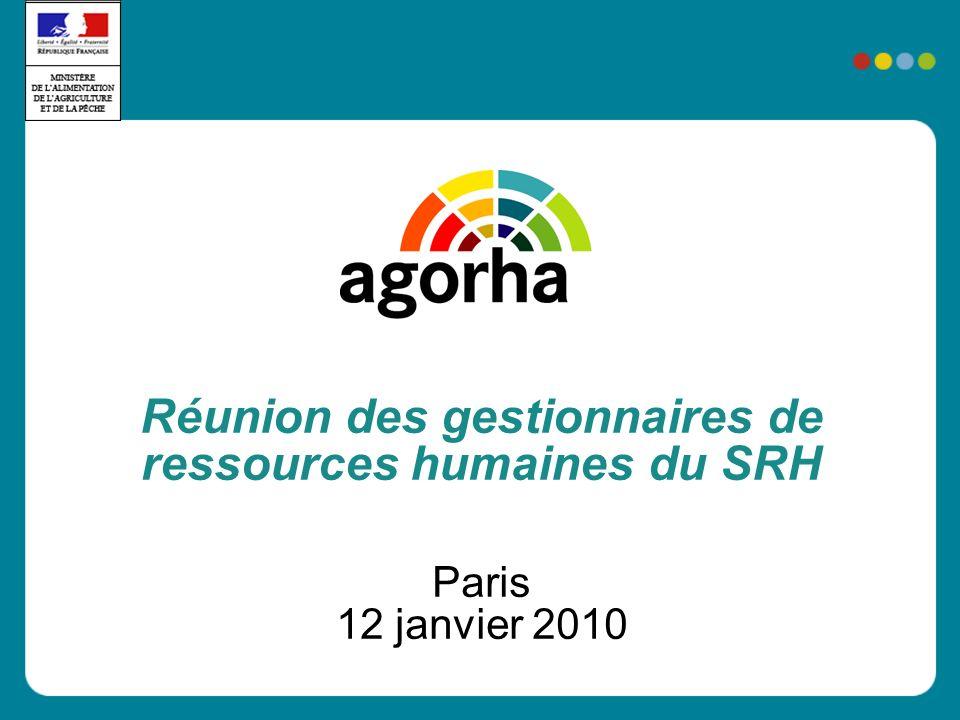 Réunion des gestionnaires de ressources humaines du SRH Paris 12 janvier 2010