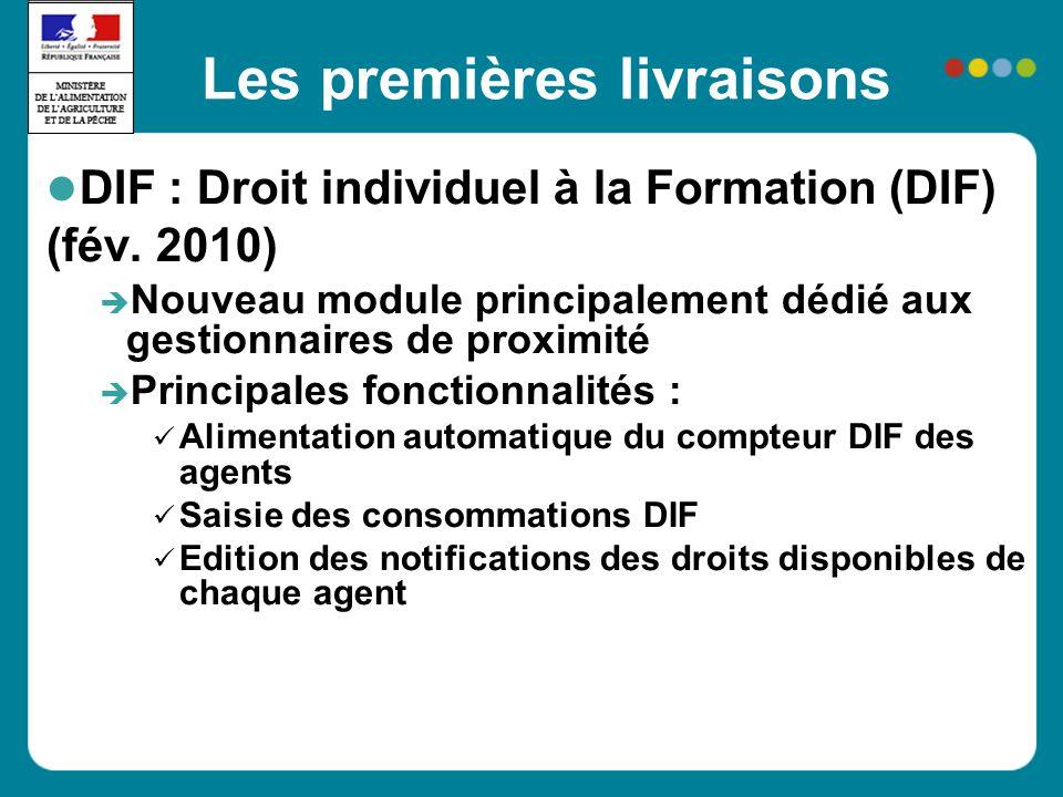 Les premières livraisons DIF : Droit individuel à la Formation (DIF) (fév.