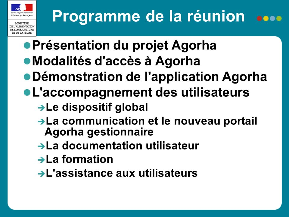 Présentation du projet Agorha