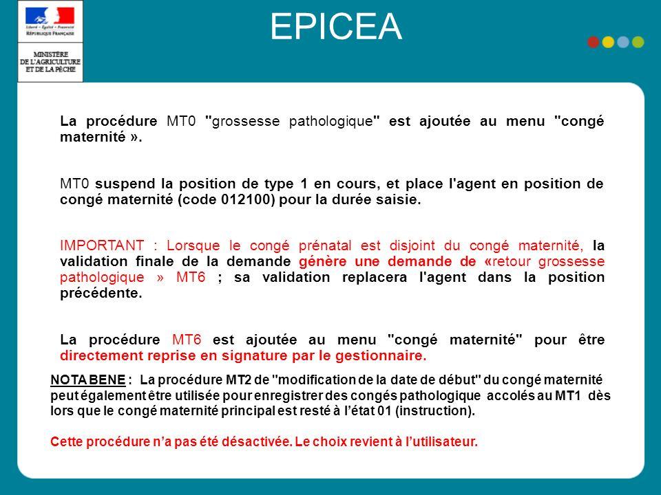 EPICEA La procédure MT0