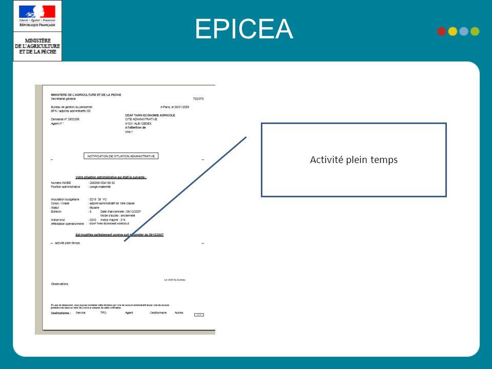 EPICEA Activité plein temps
