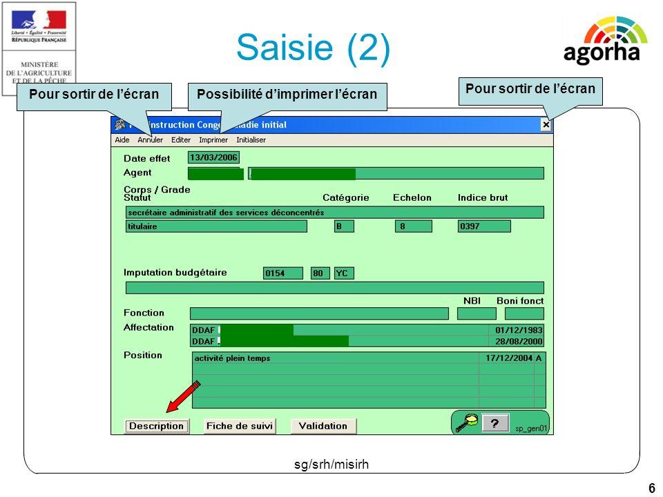 17 sg/srh/misirh Saisie (1)