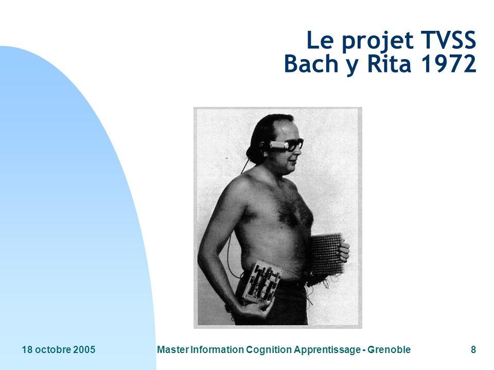18 octobre 2005Master Information Cognition Apprentissage - Grenoble9 TVSS Principe de fonctionnement