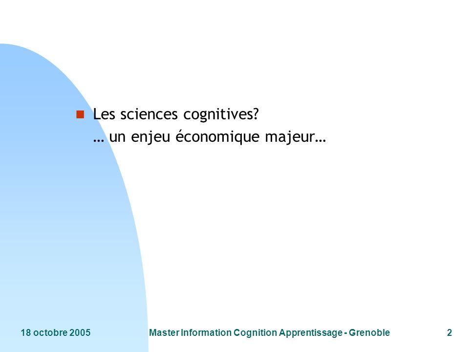 18 octobre 2005Master Information Cognition Apprentissage - Grenoble43 D après P.