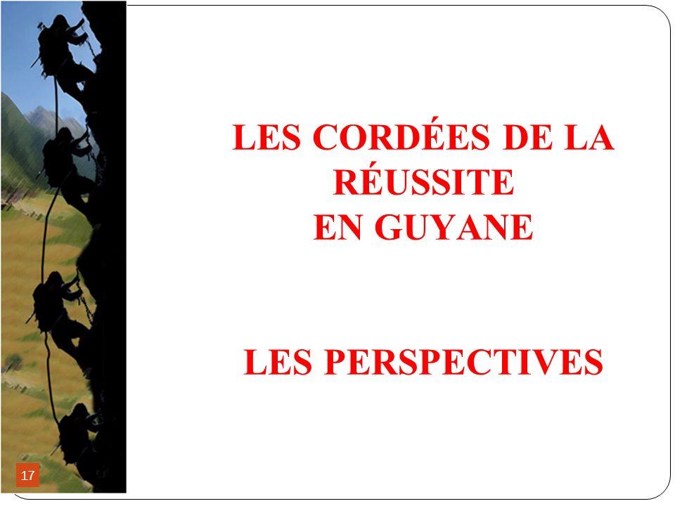 LES CORDÉES DE LA RÉUSSITE EN GUYANE LES PERSPECTIVES 17