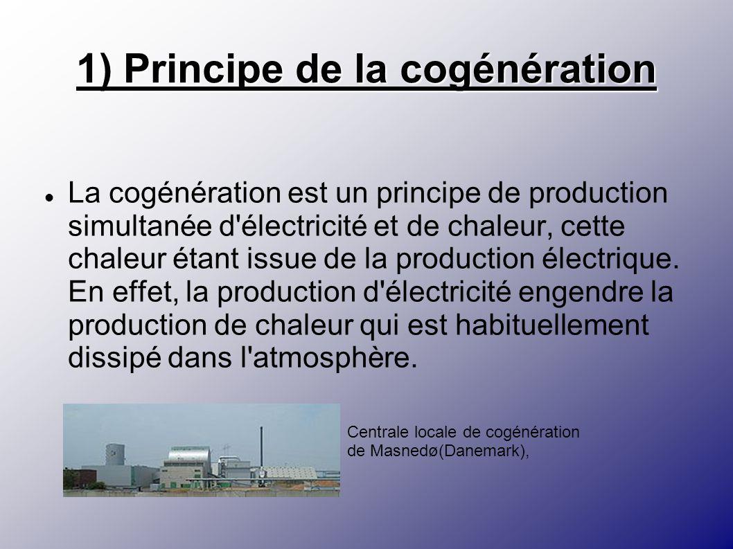 1) Principe de la cogénération La cogénération est un principe de production simultanée d'électricité et de chaleur, cette chaleur étant issue de la p