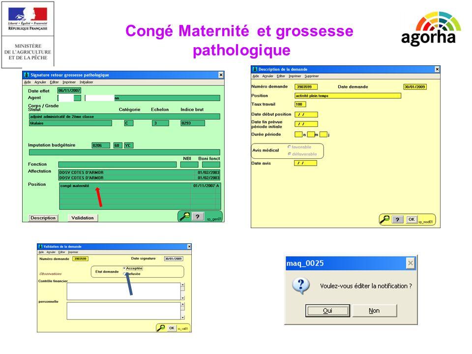 EPICEA Manque la description Congé Maternité et grossesse pathologique