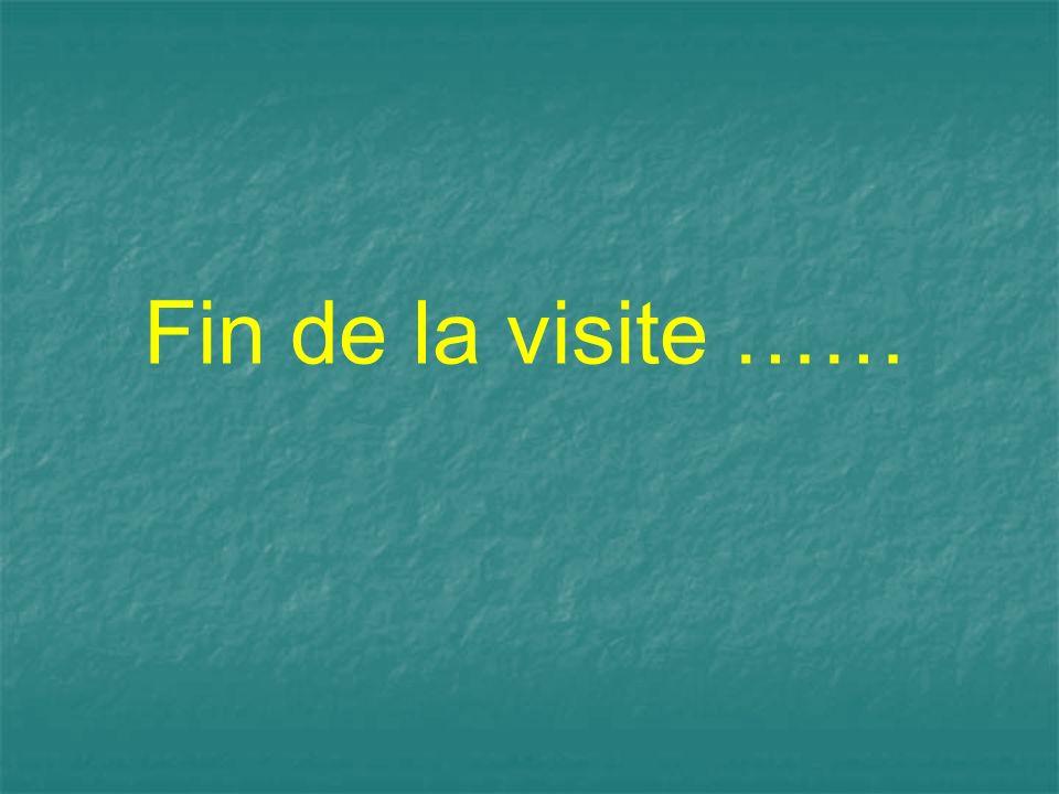 Fin de la visite ……