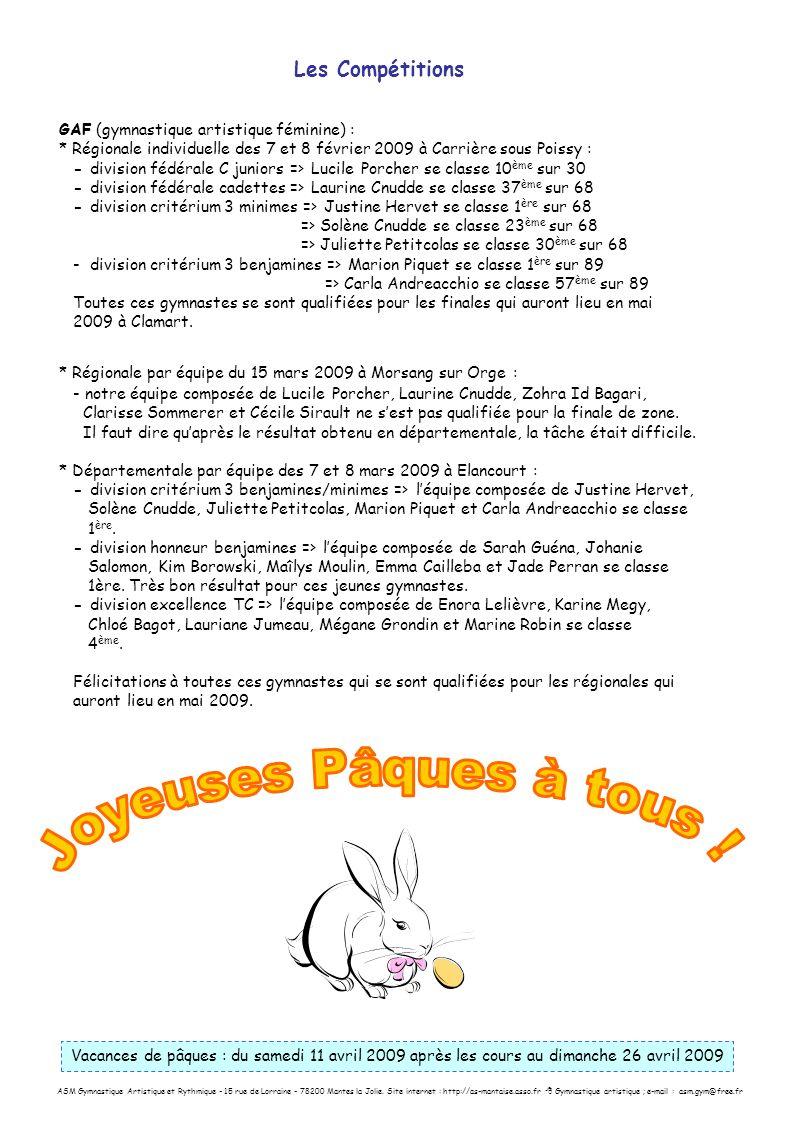 ASM Gymnastique Artistique et Rythmique - 15 rue de Lorraine - 78200 Mantes la Jolie. Site internet : http://as-mantaise.asso.fr Gymnastique artistiqu