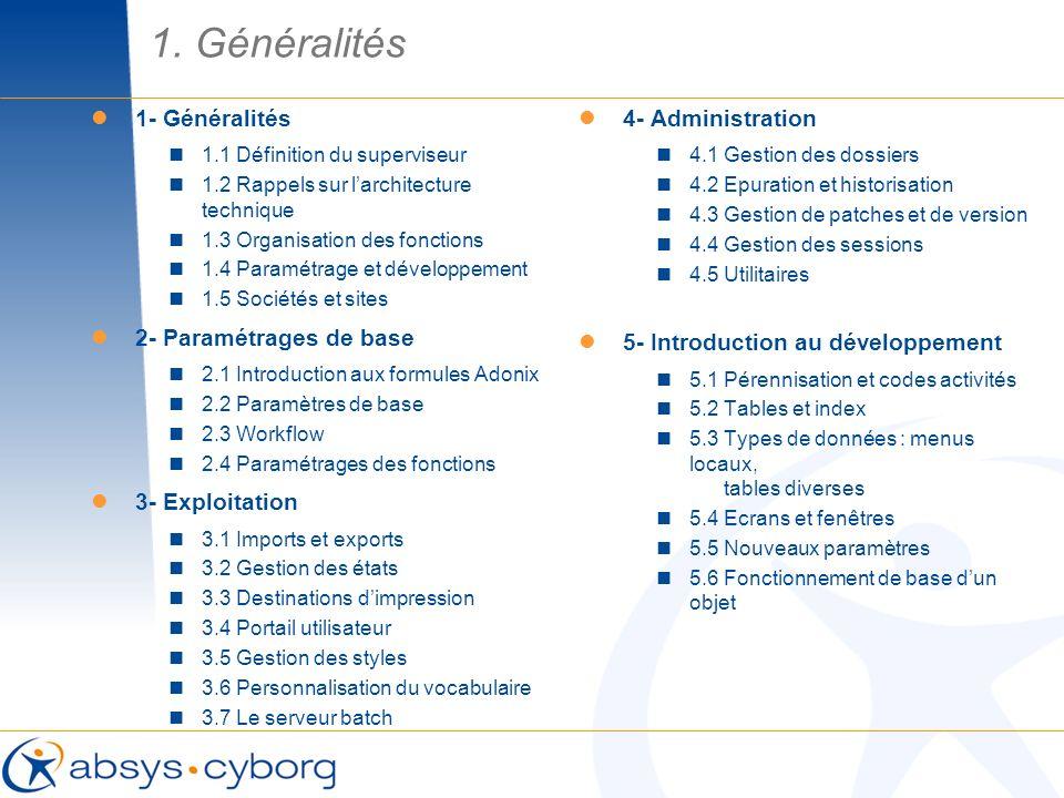 Utilitaires de recherche : Ces utilitaires permettent de rechercher des éléments de développement dans les dictionnaires dADONIX X3 : Codes activité (dans les tables, écrans, fenêtres, objets… qui composent un dossier) Types de données (dans les écrans, tables…) Codes daccès (dans les écrans et les autres tables) Messages (dans la base de données des messages traduisibles) Textes (Références croisées de lutilisation des textes dans les éléments du dictionnaire) Développement / Utilitaires / Recherche 4.5 Utilitaires