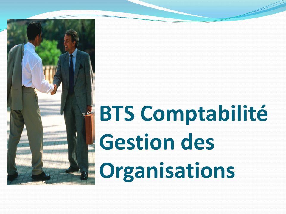 BTS Comptabilité Gestion des Organisations