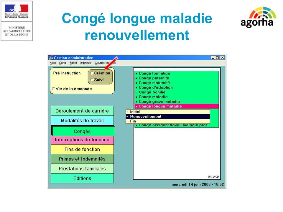 SG/SRH/MISIRH Congé longue maladie renouvellement
