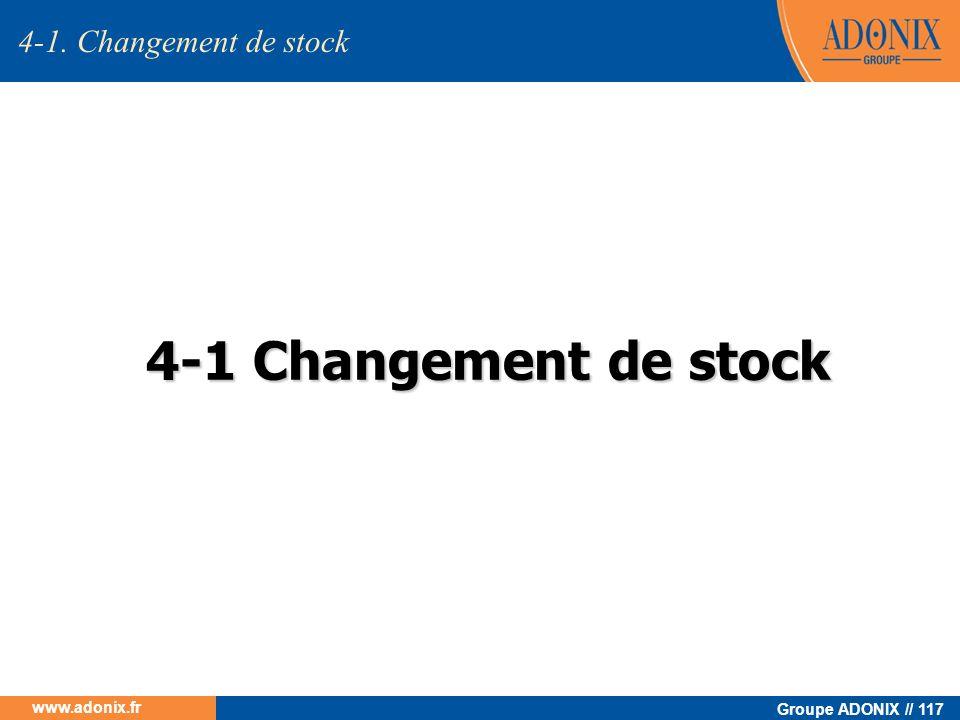 Groupe ADONIX // 117 www.adonix.fr 4-1 Changement de stock 4-1. Changement de stock