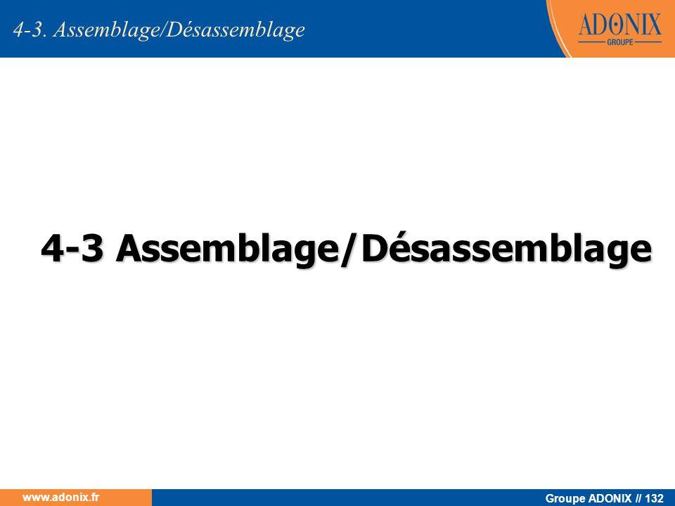 Groupe ADONIX // 132 www.adonix.fr 4-3 Assemblage/Désassemblage 4-3. Assemblage/Désassemblage
