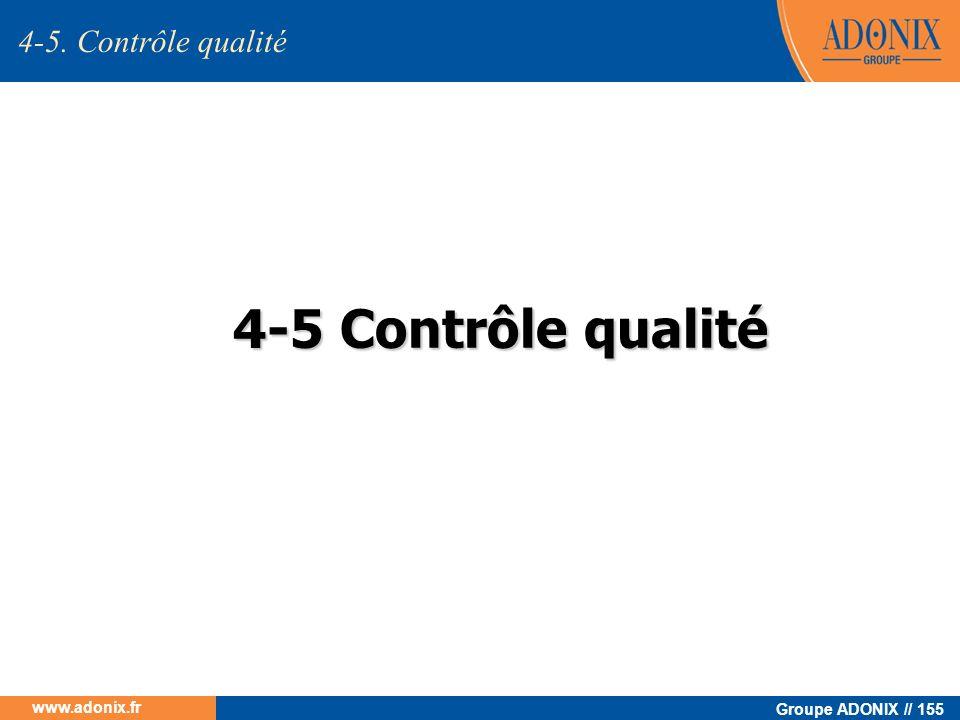 Groupe ADONIX // 155 www.adonix.fr 4-5 Contrôle qualité 4-5. Contrôle qualité