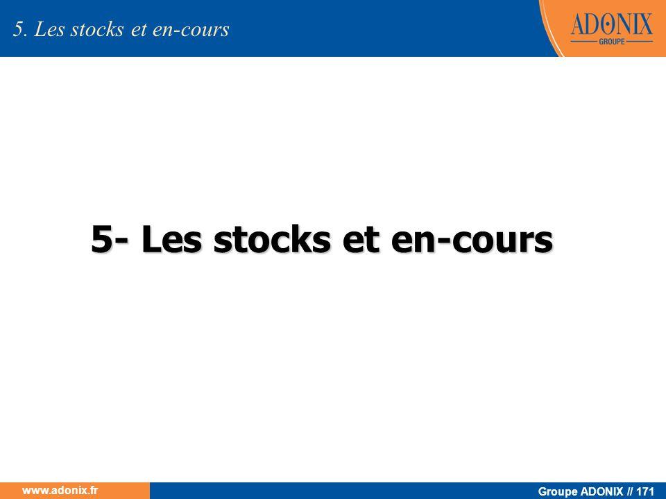 Groupe ADONIX // 171 www.adonix.fr 5- Les stocks et en-cours 5. Les stocks et en-cours