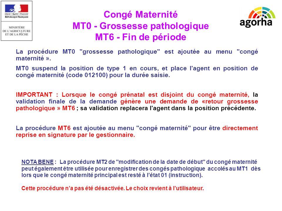 EPICEA TRES IMPORTANT : Le 1er congé de grossesse pathologique peut être préinstruit dès les 4 premiers mois, avant même que le MT1associé ne soit enregistré; il restera bloqué en instruction (sauf présence d une fin de contrat CDD rapprochée) tant que le congé maternité lui-même ne sera pas validé en préinstruction.