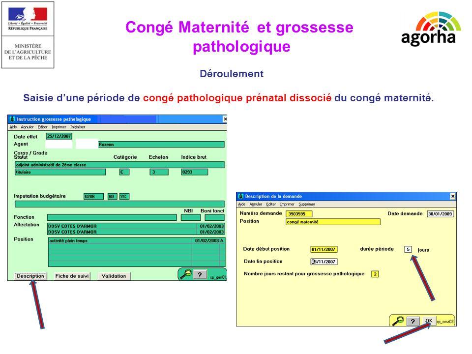 Congé Maternité Modification date de fin (MT4) Simulation