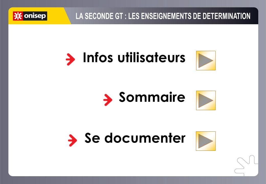 Infos utilisateurs Sommaire Se documenter