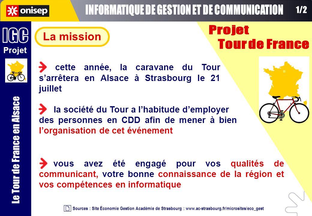 Sources : Site Économie Gestion Académie de Strasbourg : www.ac-strasbourg.fr/microsites/eco_gest vous avez été engagé pour vos qualités de communican