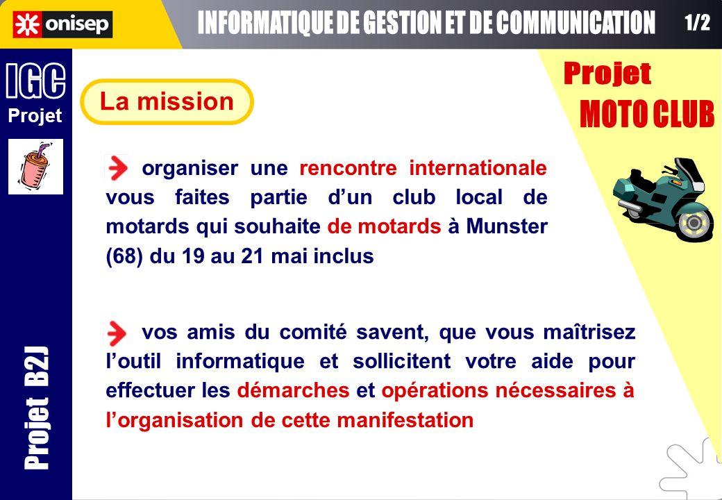 La mission Projet Projet B2J organiser une rencontre internationale vous faites partie dun club local de motards qui souhaite de motards à Munster (68