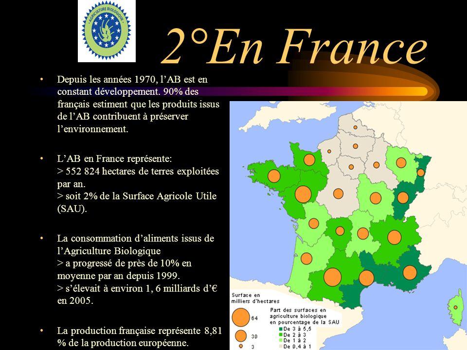 1°production mondiale En 2007: Amérique: 8 millions dhectares Europe: 609 millions dhectares Asie: 2.9 millions dhectares Afrique: 0.9 millions dhecta