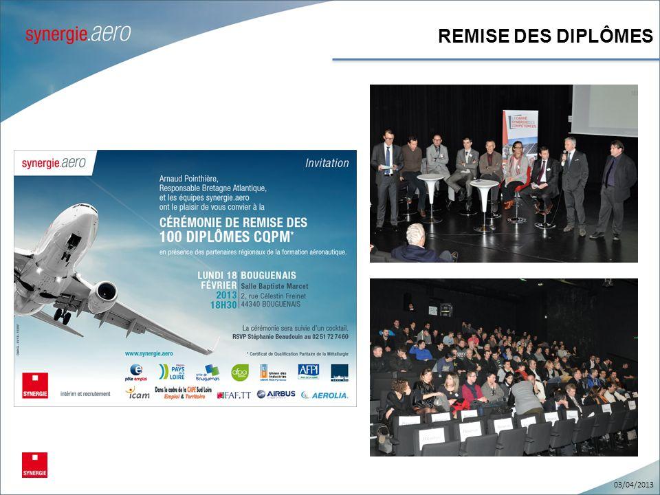 REMISE DES DIPLÔMES 03/04/2013