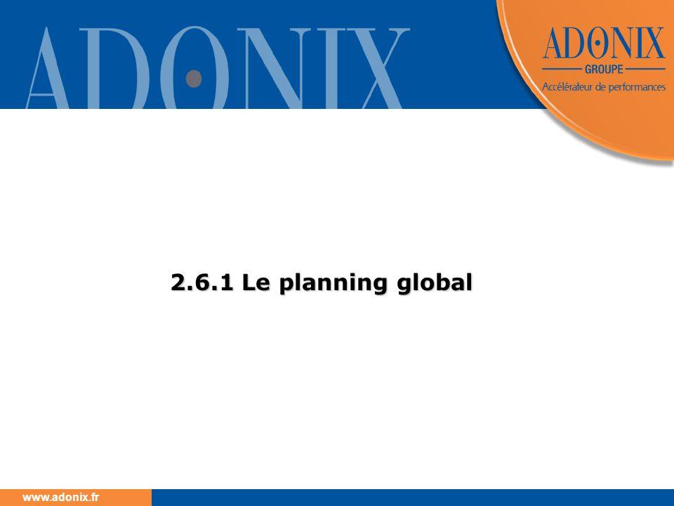www.adonix.fr 2.6.1 Le planning global