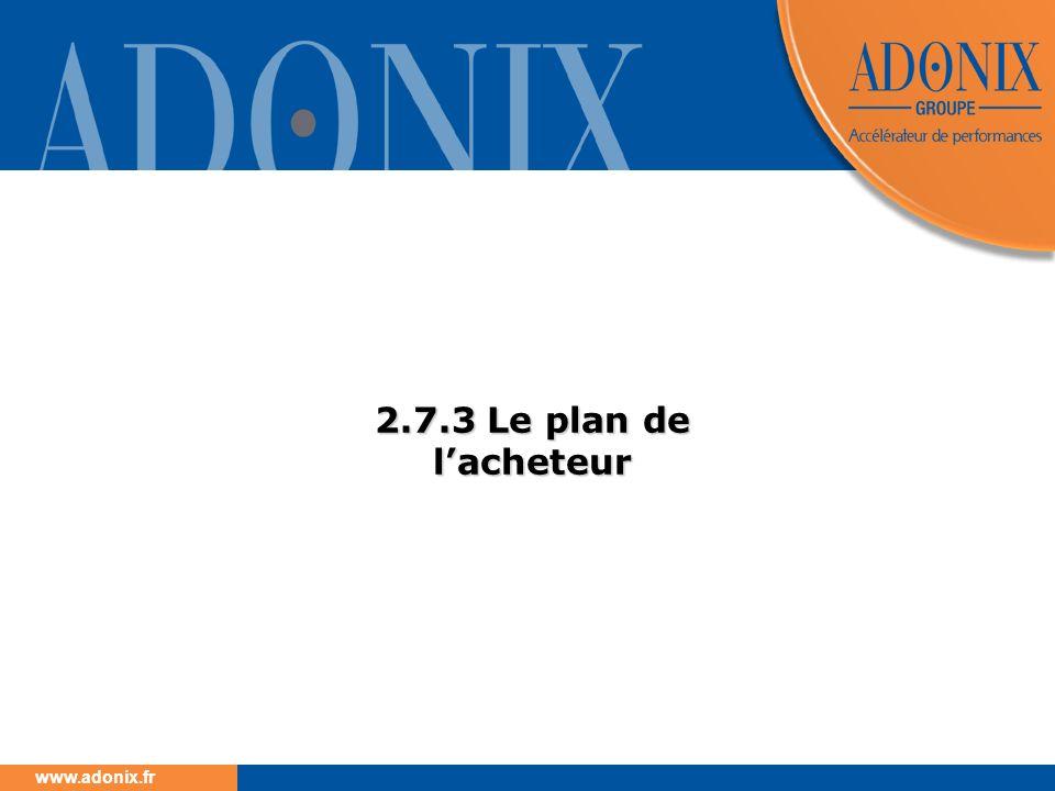 www.adonix.fr 2.7.3 Le plan de lacheteur