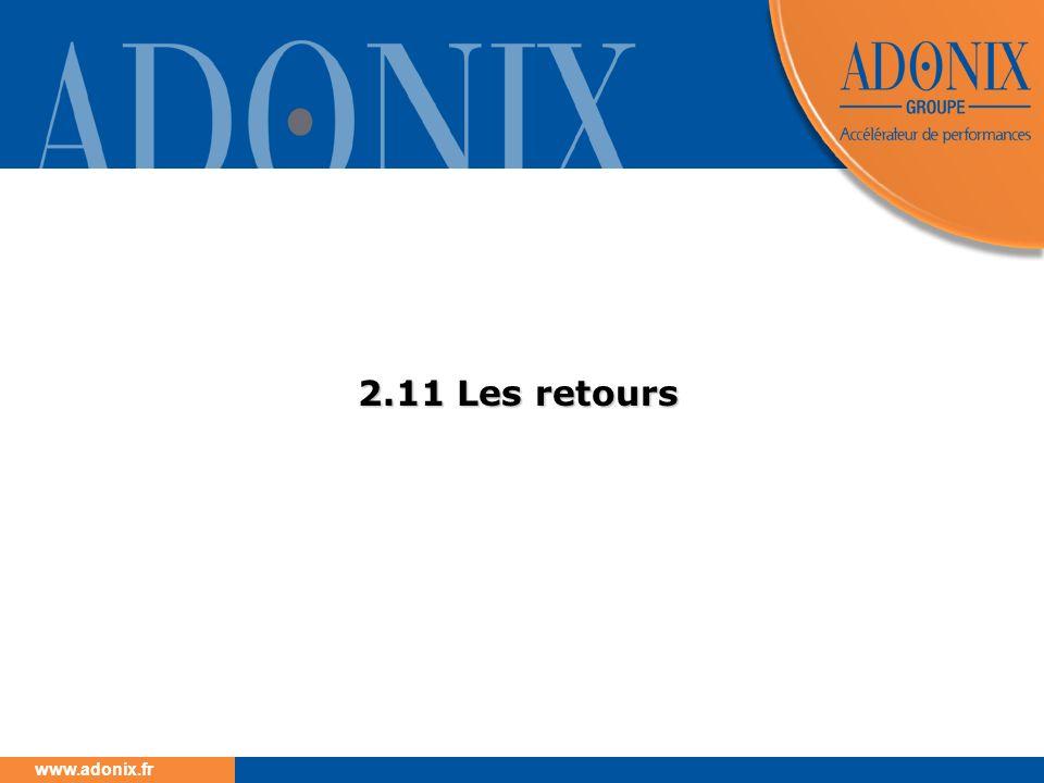 www.adonix.fr 2.11 Les retours