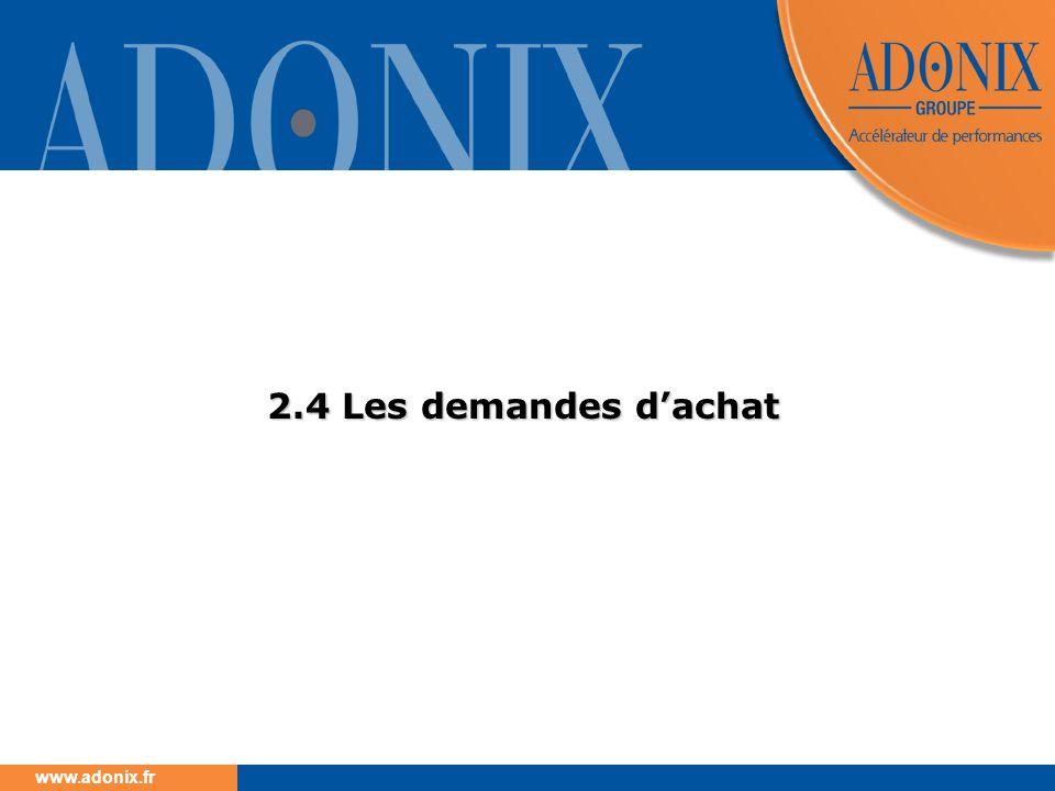 www.adonix.fr 2.4 Les demandes dachat
