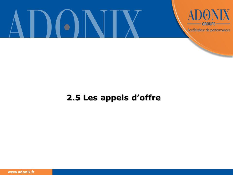 www.adonix.fr 2.5 Les appels doffre